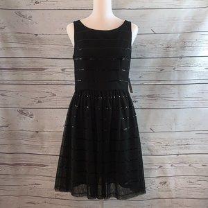 NWT JESSICA SIMPSON Sleeveless Black Sequin Dress